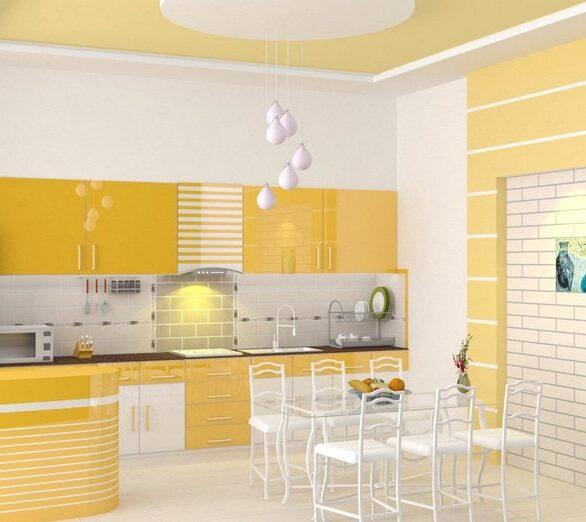 Bếp màu vàng lông gà con