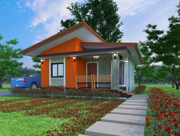 Sơn nhà màu cam cho biệt thự