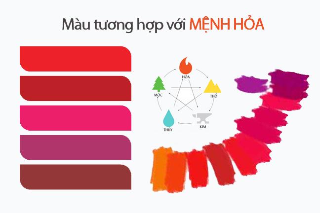 màu hợp mệnh hỏa