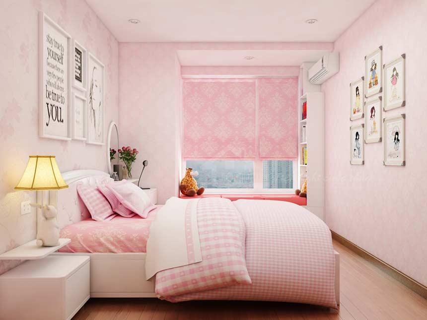 Sơn tường màu hồng Pastel