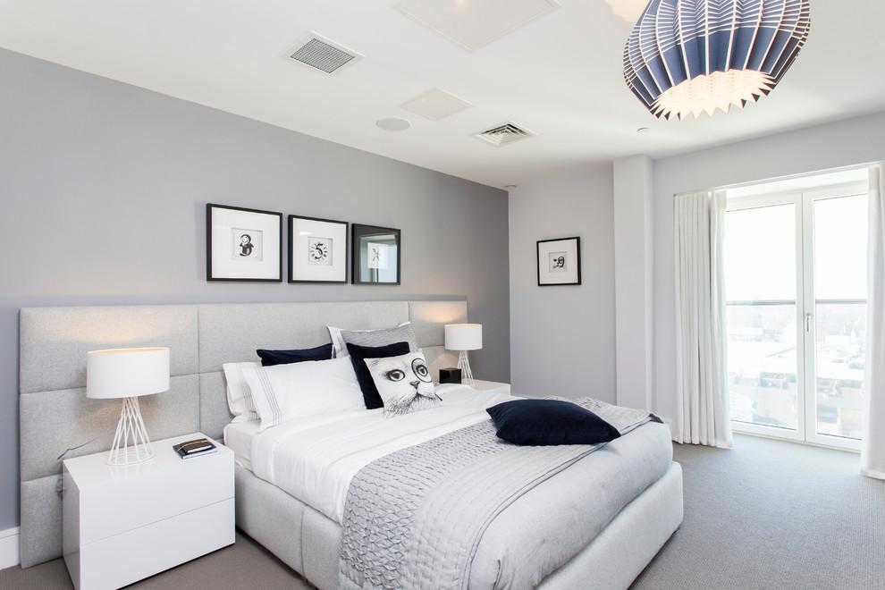 phòng ngủ màu trắng sứ