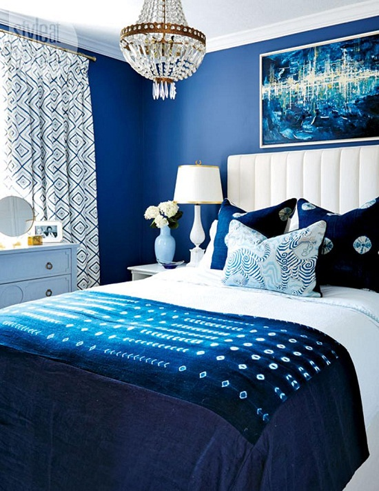 phòng ngủ xanh dương