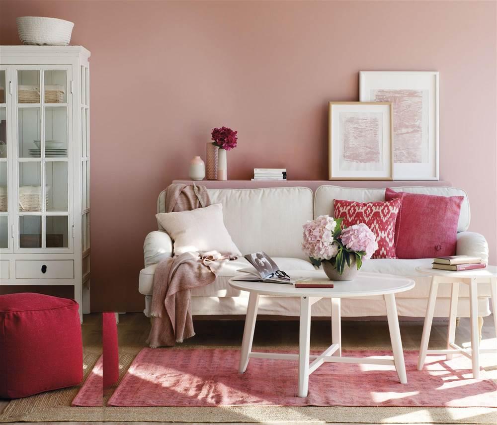 Sơn tường màu hồng thích hợp cho các gia chủ mệnh Hỏa và Thổ