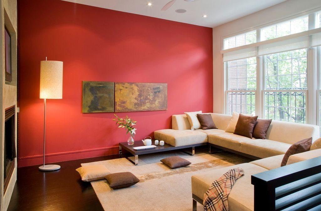 sơn tường nhà đỏ đất
