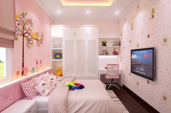 sơn nhà màu hồng 6