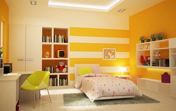 Sơn nhà màu vàng thổ 2