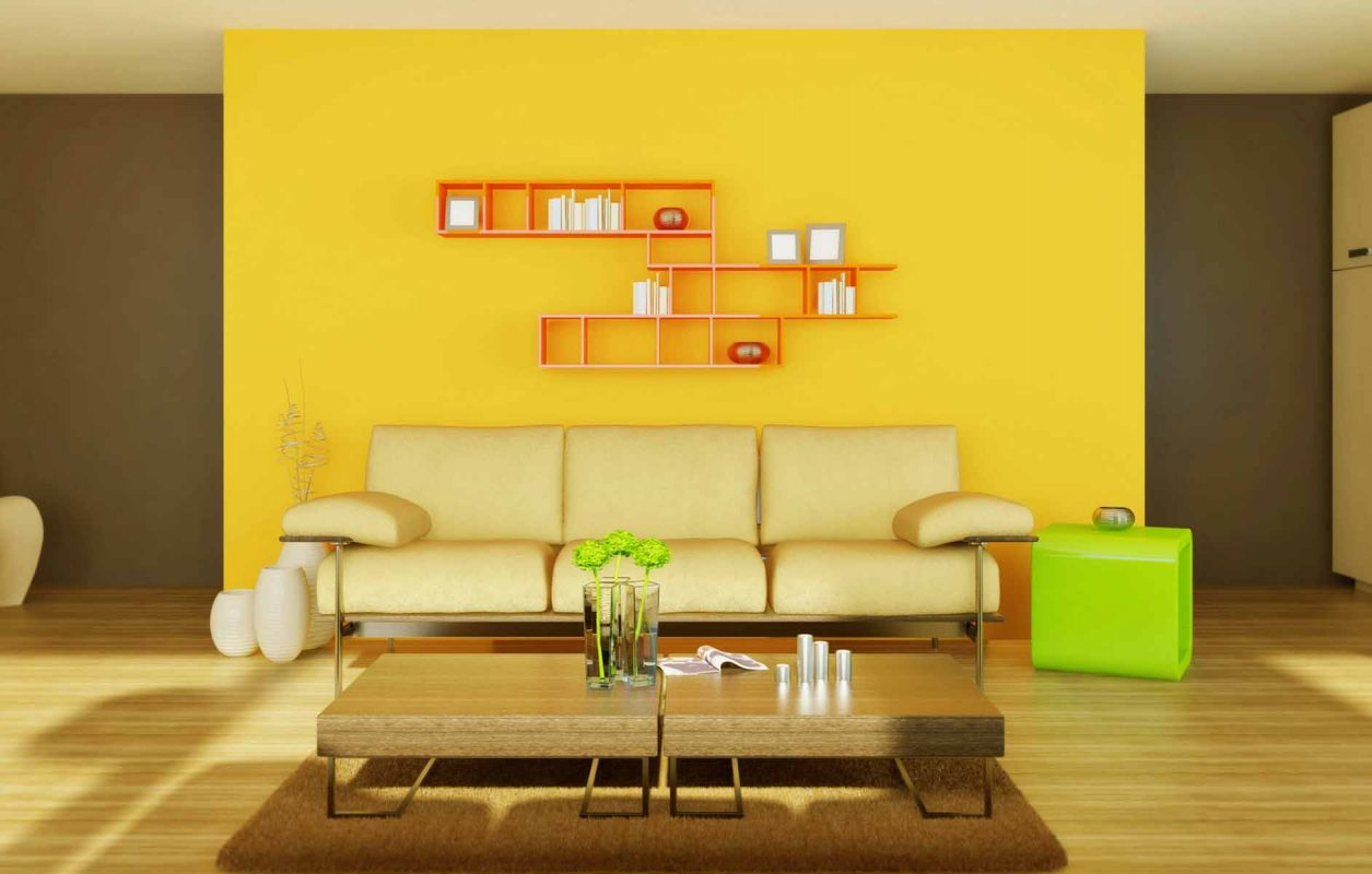 sơn nhà màu vàng thổ 8