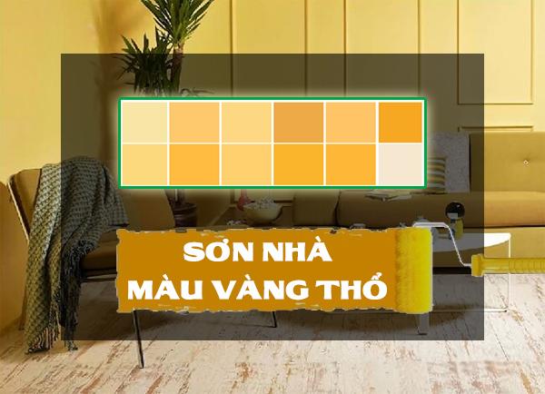 sơn nhà màu vàng thổ