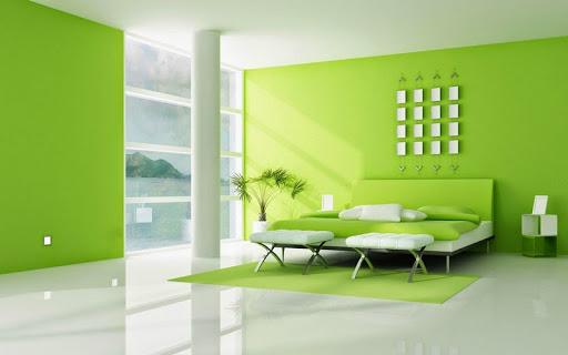 sơn nội thất màu xanh lá cây