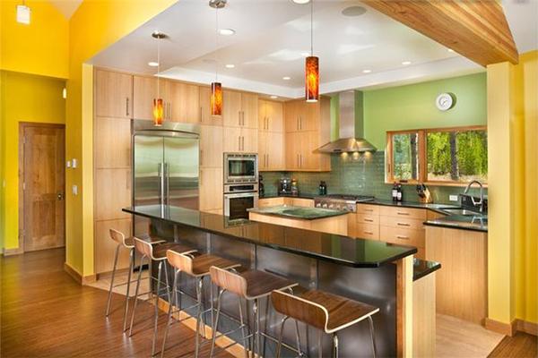 Phòng bếp vàng lông gà con