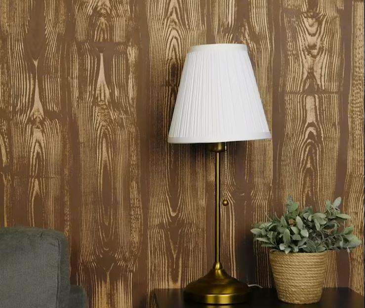 Bức tường sơn giả gỗ theo phong cách hiện đại