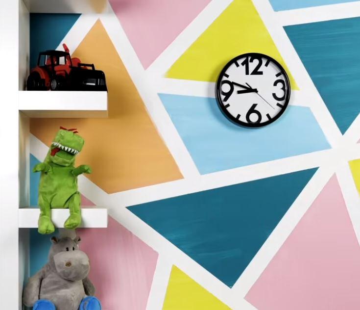 Đem ý tưởng hình học vào trang trí tường nhà