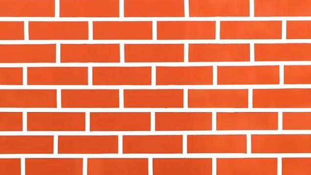 Trang trí bức tường giả gạch thật đơn giản
