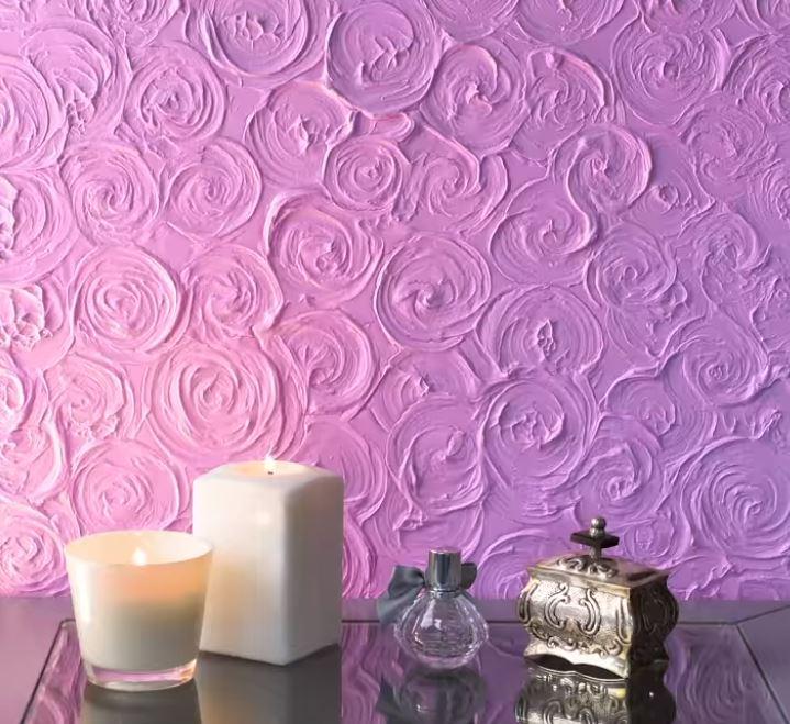 Trang trí bức tường tuyệt đẹp với họa tiết hoa hồng 3D