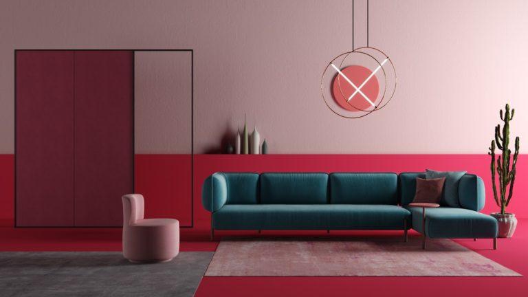 Sơn tường màu hồng 5