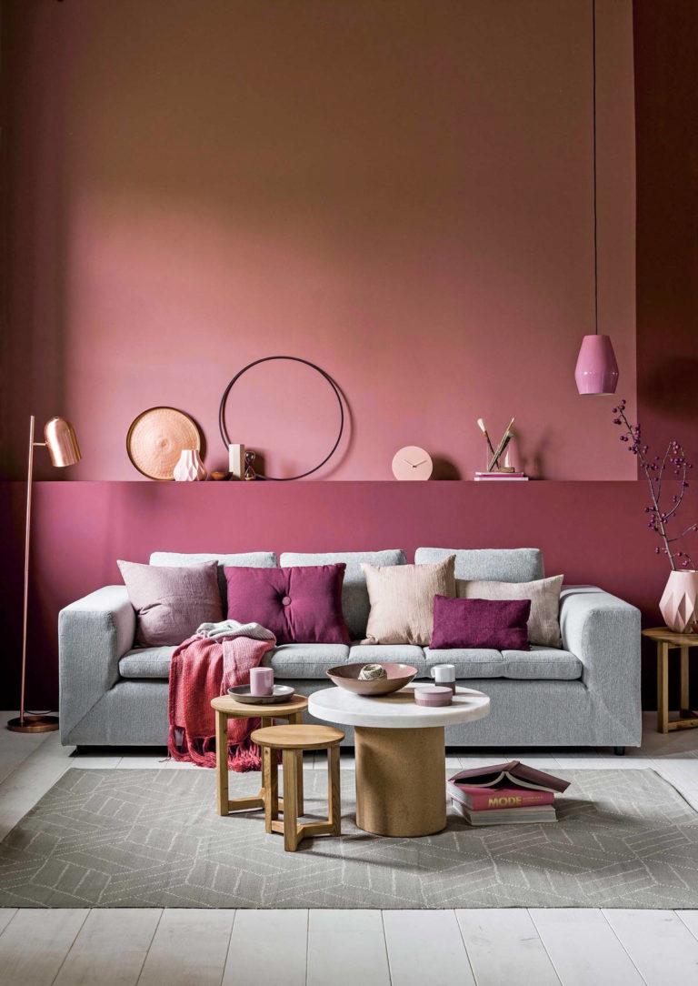 Sơn tường màu hồng 2