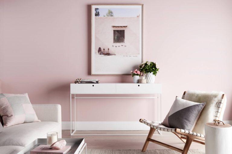 Sơn nhà màu hồng 3
