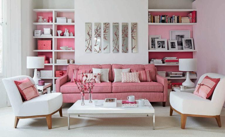 Sơn tường màu hồng