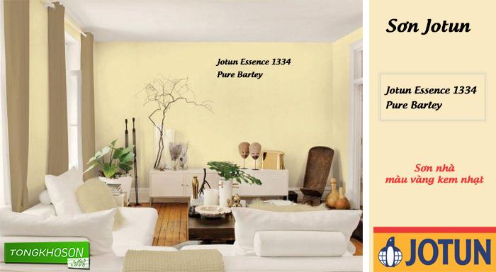 Sơn nhà màu vàng kem nhạt hãng Jotun – Joton Essence 1334 (Pure Barley)