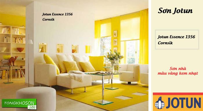 Sơn nhà màu vàng kem nhạt hãng Jotun - Joton Essence 1356 (Cornsilk)