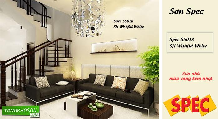 Sơn nhà màu vàng kẽm nhạt hãng Spec - Spec S5018