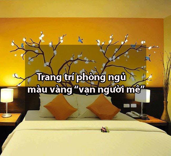 Trang trí phòng ngủ màu vàng