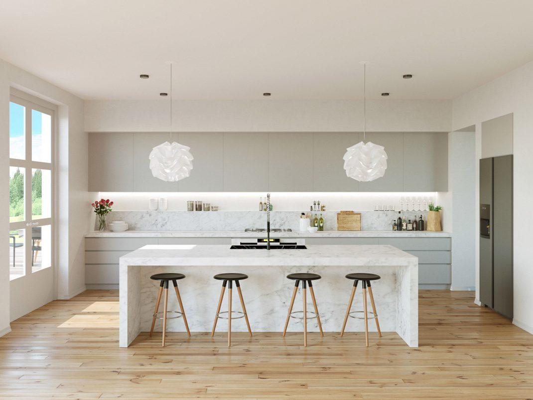 phòng bếp màu xám