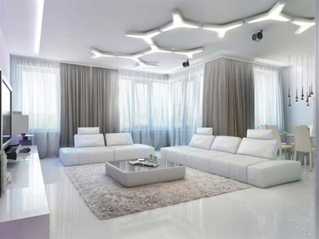 Phòng khách trắng ngọc trai 4