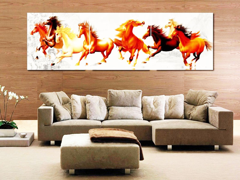 tranh treo tường trang trí phòng khách sang trọng