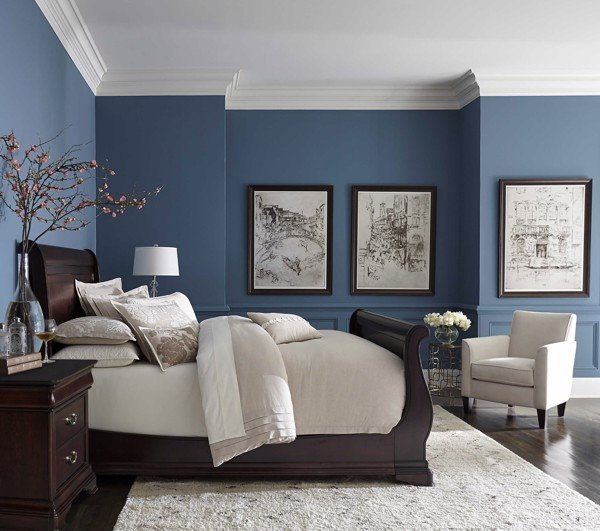 các tông màu trong thiết kế nội thất - màu xanh dương