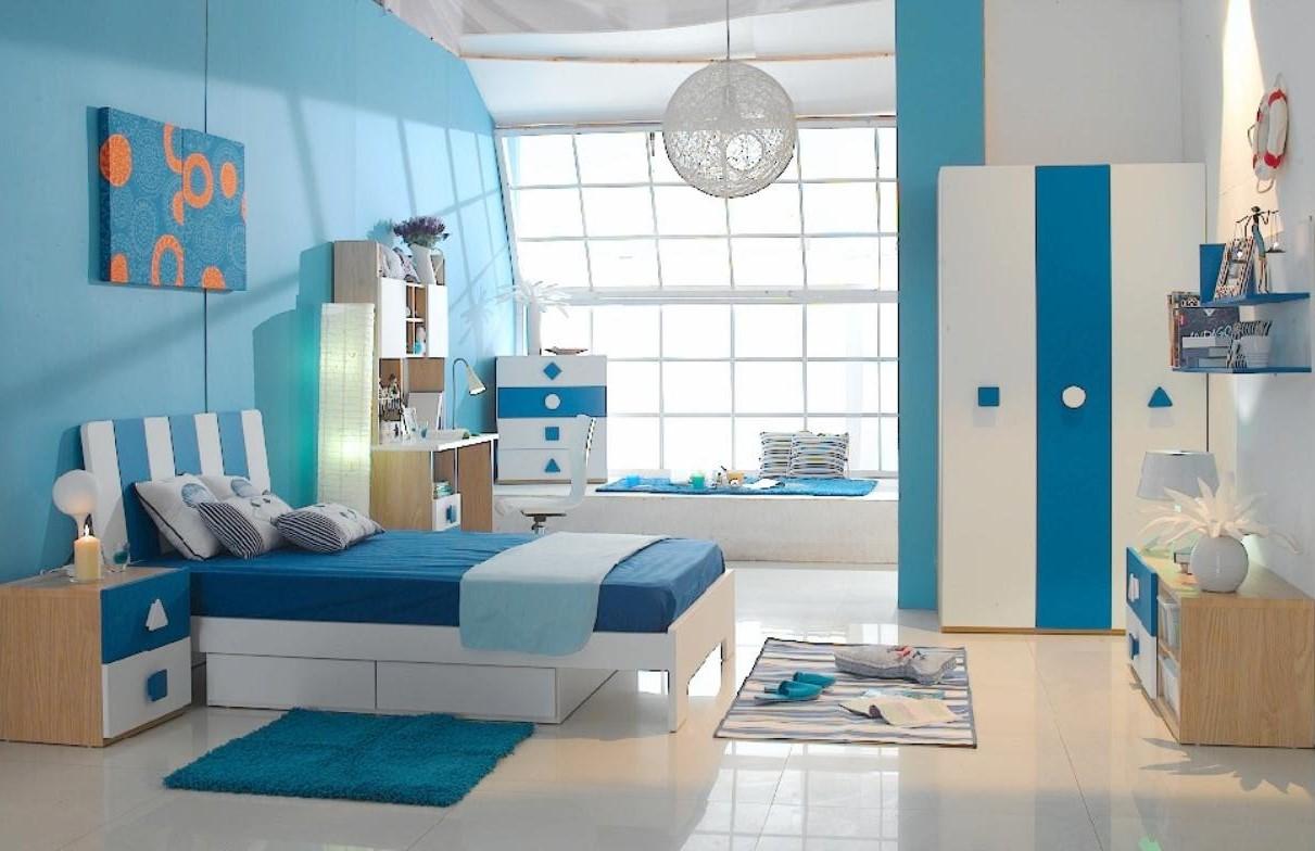 Ý tưởng thiết kế phòng ngủ màu xanh -chọn đồ nội thất