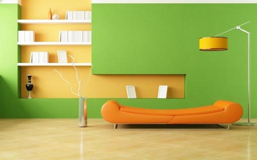 Màu cam và xanh lá cây