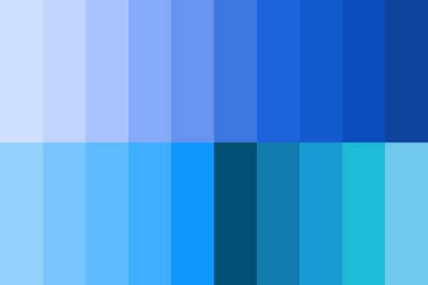 Màu xanh trong thiết kế