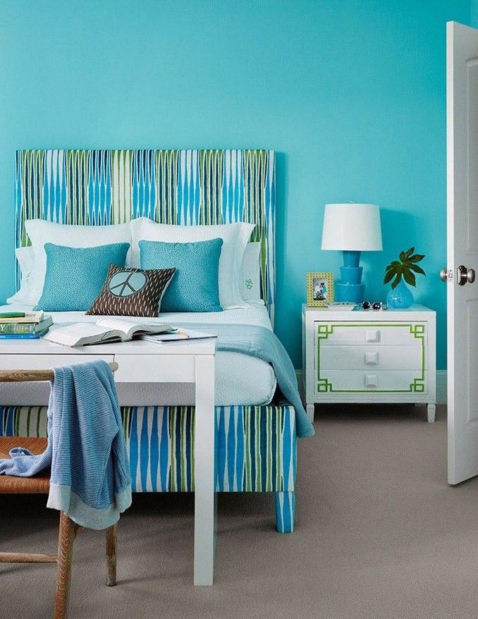Ý tưởng thiết kế phòng ngủ màu xanh hấp dẫn 2