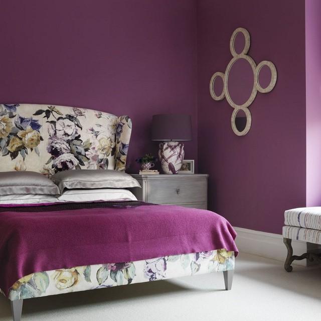 mẫu phòng ngủ màu tím đẹp như mơ 5