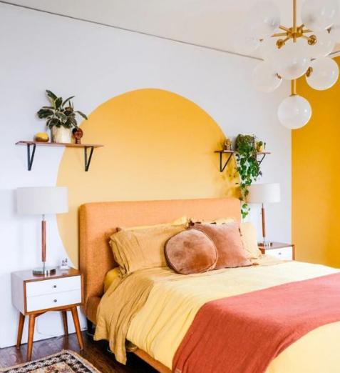 Phối màu cam cho căn nhà thêm ấm cúng 3