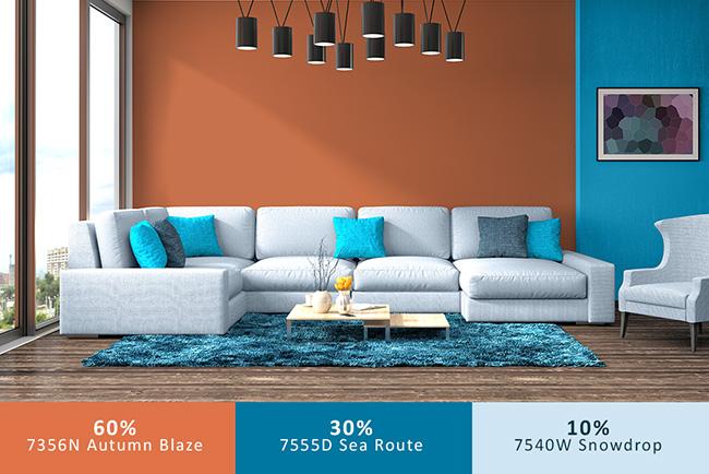 nguyên tắc kết hợp màu sắc trong nội thất