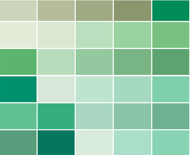 Nhóm màu kết hợp khi sơn nhà màu xanh ngọc