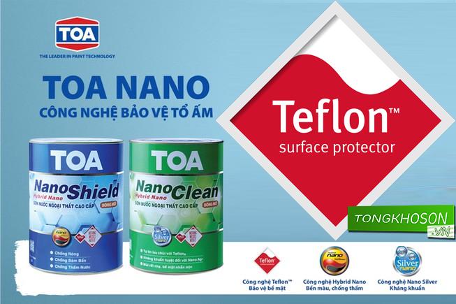 sơn Toa Nanoclean và công nghệ Teflon vượt trội
